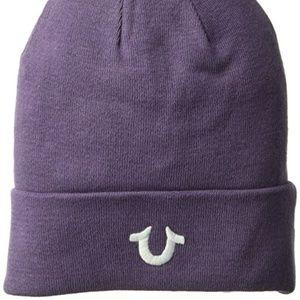 True Religion Men's Cotton Watchcap, Purple Rain,